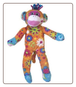 "Print Pizzazz Little Sock Monkey 8.5"" by Mary Meyer"
