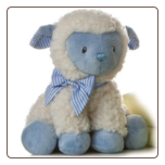 "Jesus Loves Me Boy Lamb 9"" by Aurora"