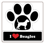 I Love Beagles Car Magnet by Little Gifts