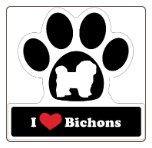 I Love Bichon Frises Car Magnet by Little Gifts