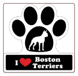 I Love Boston Terriers Car Magnet by Little Gifts