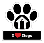 I Love Dogs Car Magnet by Little Gifts