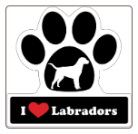 I Love Labradors Car Magnet by Little Gifts