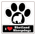 I Love Shetland Sheepdogs Shelties Car Magnet by Little Gifts