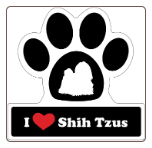 I Love Shih Tzus Car Magnet by Little Gifts