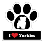 I Love Yorkshire Terriers Yorkies Car Magnet by Little Gifts