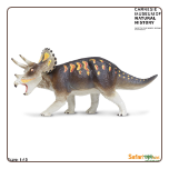 "Carnegie Dinosaur:  Triceratops Figure 6.5"" by Safari Ltd"
