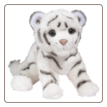 "Silky White Tiger Cub 12"" by Douglas"