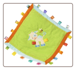 "TAGGIES Casey Cow Cozy Blanket 16"" by Mary Meyer"