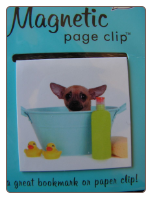 Chihuahua in Bath Deluxe Single Magnetic Page Clip Bookmark by Re-marks