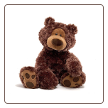 "Philbin Chocolate Bear 18"" by Gund"