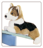 "Kirby the Tri-color Corgi 14"" by Douglas"