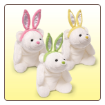 "Snuffles White Bear with Easter Bunny Ears 9""  by Gund"