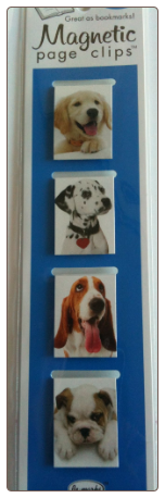 Puppy Mini Photo Magnetic Page Clips Set of 4 by Re-marks