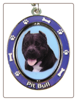 Black Pit Bull Spinning Dog Key Chain by E and S Imports
