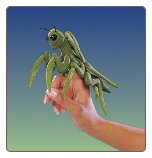 "Mini Praying Mantis Finger Puppet 5.5"" by Folkmanis"