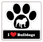I Love Bulldogs Car Magnet by Little Gifts