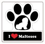 I Love Malteses Car Magnet by Little Gifts
