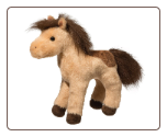 "Toffee Cream and Brown Horse 8"" by Douglas"